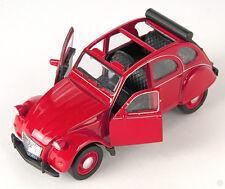 BLITZ VERSAND Citroen 2 CV offen rot / red Ente Welly Modell Auto NEU & OVP