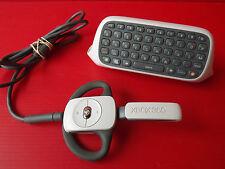Lot de 2 Accessoires XBOX 360 Clavier Chatpad et Micro Caque sans fil