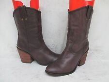 Lucky Brand Purple Leather High Heel Short Cowboy Boots Size 9 M US 39 EUR