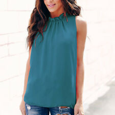 Women Loose Halter Neck Sleeveless Blouses Shirts Tank Top for Summer Travel