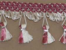 NEW Conso VINTAGE TASSEL Trim CRAFT Upholstery PILLOW Curtain TERRA COTTA&/Ivory