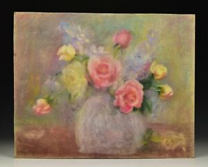 Pastel Still Life Painting Attributed to Marion H Miller