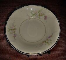 Vtg Set of 8 Edwin Knowles KNO673 Fruit Dessert Bowls Pink Lavender Roses Gold