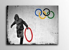 ACEO Banksy Stolen Olympic Rings Graffiti Street Art Canvas Giclee Print