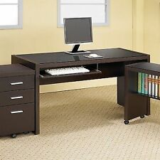 coaster contemporary computer workstation office desk table. Coaster 800901 Papineau Dark Brown Computer Desk Contemporary Workstation Office Table