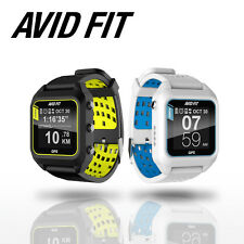 AVID FIT GPS Running Smart Sports Fitness Bluetooth Watch Heart Rate - White