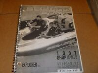 OEM 1997 SeaDoo Explorer 5824 Service Shop Repair Manual Supplement 219100055