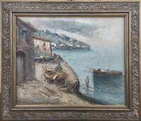 Impressionist Baldessari Fischerboote Italien Lago Maggiore Isola dei Pescatori