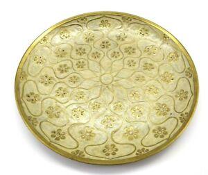 Bras Plate India Floral Mandala Design Decor Wall Hanging