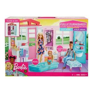 Barbie Doll House with Furniture and Accessories Set
