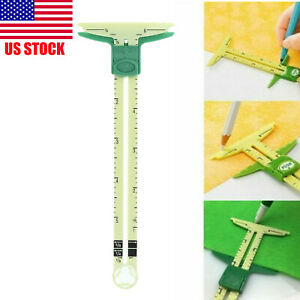 Sliding Gauge 5 in 1 Clover 9506 Measuring Sewing Home Tool Improve Buttonhole