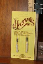 Vintage Dollhouse Houseworks Miniature Candle Flame Bulbs Sealed on Card