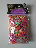 Colourful Loom Band Refill, 1 HOOK , APPROX 1000 BANDS, + S-CLIPS