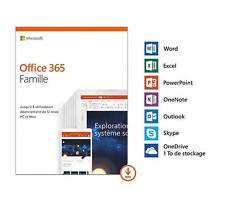 Microsoft Office 365 Famille ESD  1 an - jusqu'à 6 utilisateurs Home  FR