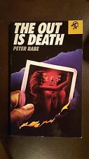 """Peter Rabe, """"The Out is Death,"""" 1988, Black Lizard, Nf, 1st thus"""