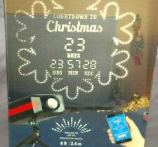 NIB Christmas LED Light Show Projector White Snowflake Laser Yard Decor Holiday