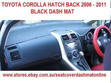 DASH MAT,BLACK DASHMAT, DASHBOARD COVER FIT TOYOTA COROLLA H.B 2006-2011, BLACK