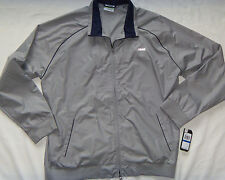 NEW Mens IZOD Performance Golf Jacket Wind/Water Resistant Size XL Silver $98