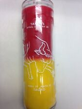 HOROSCOPE ASTROLOGY 7 DAY 2 COLOR UNSCENTED CANDLE IN GLASS FOR TAURUS (TAURO)