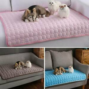 Pet Bed Pad Cat Dog Puppy Soft Mat Mattress Cushion Cooling Washable Reusables