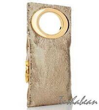 IMAN Shimmer & Shine Metallic Mesh Mini Clutch $69.90 GOLD NWT Includes Dust Bag