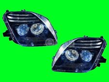 HONDA PRELUDE 1997 1998 1999 2000 2001 PROJECTOR BLACK HEADLIGHT w/BULB PAIR