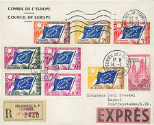 """CE14-PJ1/9M Registered-Expres FDC Council of Europe """"1st Day Service stamp"""" 1963"""