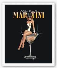 RESTAURANT ART PRINT Razzle Dazzle Martini Ralph Burch 8x10