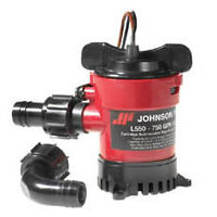 "Johnson L550 Duraport Submersible Bilge Pump. 800Gph 12v. 19mm (3/4"") Hose"