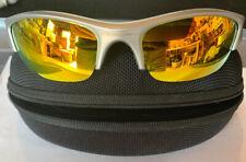 Oakley Golf Sunglasses Mens Silver Gray Frames w Case Extra Nose Pads & Soft Bag