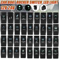 2 LED 12/24V INTERRUTTORE LEVETTA BILANCIERE ON/OFF SPST VERDE LED PER AUTO