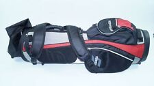 * nuevo * stata bolsa de golf Bag rojo negro plata bolso golf Black Tour Golfing New