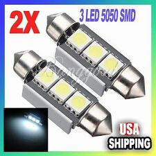 2X 36mm CANBUS Error Free 3 LED 5050 SMD 6418 C5W License Plate Dome Light Bulb