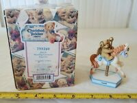+ New with box Cherished Teddies March Hillman Monthly Carousel  #755249
