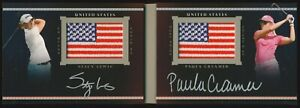 STACY LEWIS / PAULA CREAMER 2014 Upper Deck Exquisite (UD Black) DUAL AUTO #3/35