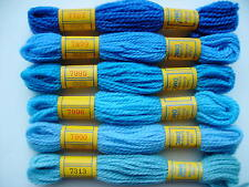 DMC TAPESTRY THREADS 6 colors BLUES (set C)