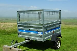 Car trailer Maypole MP712 - High Sides Cage - Tipping - with cover