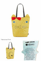 LeSportsac Donna Wilson Cat Tote, Ziggy Cat Embroidered Free Ship NWT Reversible