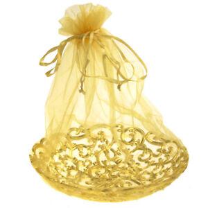 Organza Wrap Basket with Plastic Swirl Tray, 8-Inch