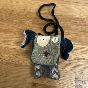 Puppet Dog Cate & Levi Wool Handmade Educational Kids Plush Pouch Toy Bag 1 Of 1