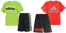 New Adidas Little Boy Logo Shirt & Shorts Set Choose Size and Color MSRP $44