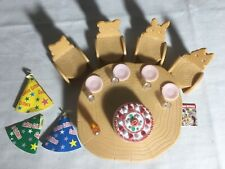 Calico critters/sylvanian families Wood Look Baby Party Table With Animal Chairs