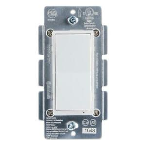 GE In-Wall On/Off Paddle Bluetooth Timer Switch, Almond/White