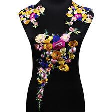 1set Embroidery Flowers Lace Patch DIY Clothes Accessories Multicolour Applique