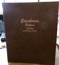 US COINS EISENHOWER DOLLARS 1971- 78 COMPLETE W SILVER PROOFS  DANSCO ALBUM UNC