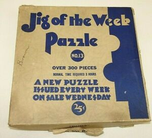 Vintage Jig Of The Week Puzzle Dogs No 13 Over 300 Pieces Golden Rule St Paul MN