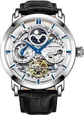Stuhrling Original 47mm Skeleton Dual Time Men's Automatic Watch (371.01)