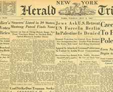 Flying Saucers listed in 39 States Mustang's Find None Roswell  July 8 1947 B28