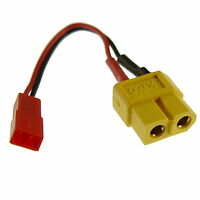 XT60 Buchse auf BEC - JST Stecker Ladekabel Adapter Kabel Akku Lipo Modellbau