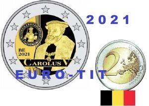 BELGIQUE  CAROLUS  V      BELGIQUE  2 EURO  2021    COINCARD  NOUVEAU   prévente